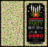 Christmas Party Invitation Card Stock Images
