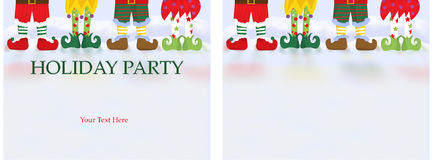 Christmas Party Invitation Card vector illustration