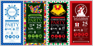 Christmas party Invitation Card sets. This is Christmas party invitation card design. Vector file Royalty Free Stock Photos