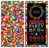 Christmas party Invitation Card sets Stock Photos