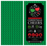 Christmas party Invitation Card sets Royalty Free Stock Photos