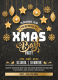 Christmas Party Invitation Stock Photography