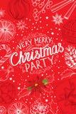 Christmas party invitation, food menu restaurant. royalty free illustration