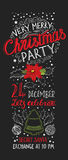 Christmas party invitation and holiday background. Stock Images