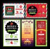 Christmas party invitation. Holiday card. Royalty Free Stock Photo