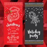 Christmas party invitation. Holiday card. Royalty Free Stock Image