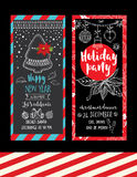 Christmas party invitation. Holiday card. Stock Image