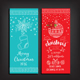 Christmas party invitation. Holiday card. Stock Photography