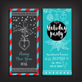 Christmas party invitation. Holiday card. Royalty Free Stock Image