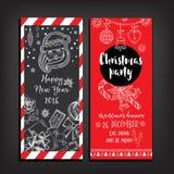 Christmas party invitation. Holiday card. Royalty Free Stock Photography