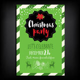 Christmas party invitation. Holiday card. Royalty Free Stock Images