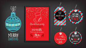 Christmas party invitation. Holiday card. Royalty Free Stock Photo
