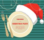 Christmas party invitation Stock Image
