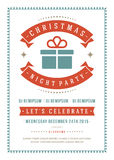 Christmas party invitation poster design vector Stock Image