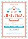Christmas party invitation poster design vector Royalty Free Stock Photo