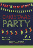 Christmas party invitation poster Stock Photography