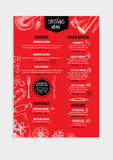 Christmas party invitation restaurant. Food flyer. Royalty Free Stock Images