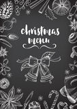 Christmas party invitation restaurant. Food flyer. Royalty Free Stock Photos