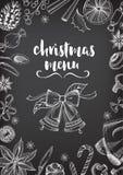 Christmas party invitation restaurant. Food flyer. Royalty Free Stock Photos