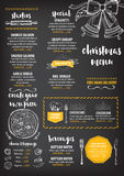 Christmas party invitation restaurant. Food flyer. Stock Image