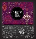 Christmas party invitation restaurant. Food flyer. Stock Photos