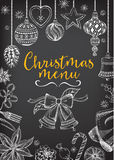 Christmas party invitation restaurant. Food flyer. Royalty Free Stock Photography
