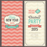 Christmas party invitation. Vector illustration Stock Photos