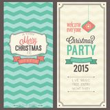 Christmas party invitation. Vector illustration Royalty Free Stock Image