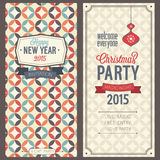 Christmas party invitation. Vector illustration Royalty Free Stock Photography