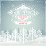 Christmas party invitation. Vector illustration stock illustration