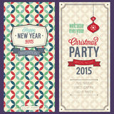 Christmas party invitation. Vector illustration Royalty Free Stock Photo