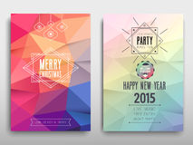 Christmas party invitation. Vector illustration Stock Photo