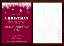 Christmas party invitation Royalty Free Stock Images