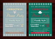 Christmas party invitations Royalty Free Stock Photo