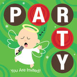 Christmas Party Invite Royalty Free Stock Photos