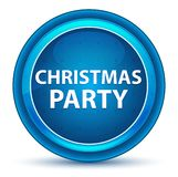 Christmas Party Eyeball Blue Round Button stock illustration