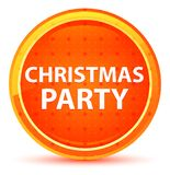 Christmas Party Natural Orange Round Button royalty free illustration