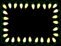 Christmas/party lights border. On black background Royalty Free Stock Photography