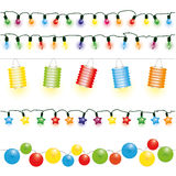 Christmas and party lights vector Stock Photo