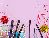 Christmas party makeup Royalty Free Stock Photo