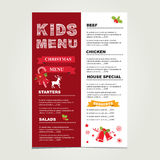 Christmas party menu. royalty free illustration