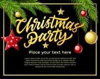 Christmas party - modern vector illustration with place for text Royalty Free Stock Images