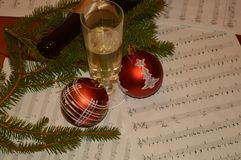 Music and new year. Christmas  party nee year Royalty Free Stock Photo