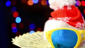 Christmas party objects stock video footage