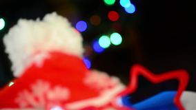 Christmas party objects stock footage