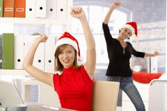 Christmas party in office Royalty Free Stock Images