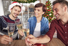 Christmas party at the office Royalty Free Stock Image