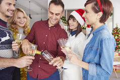 Christmas party at the office Stock Photo