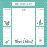 Christmas party organization Royalty Free Stock Photos