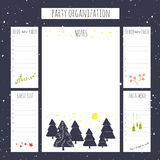 Christmas party organization Royalty Free Stock Images